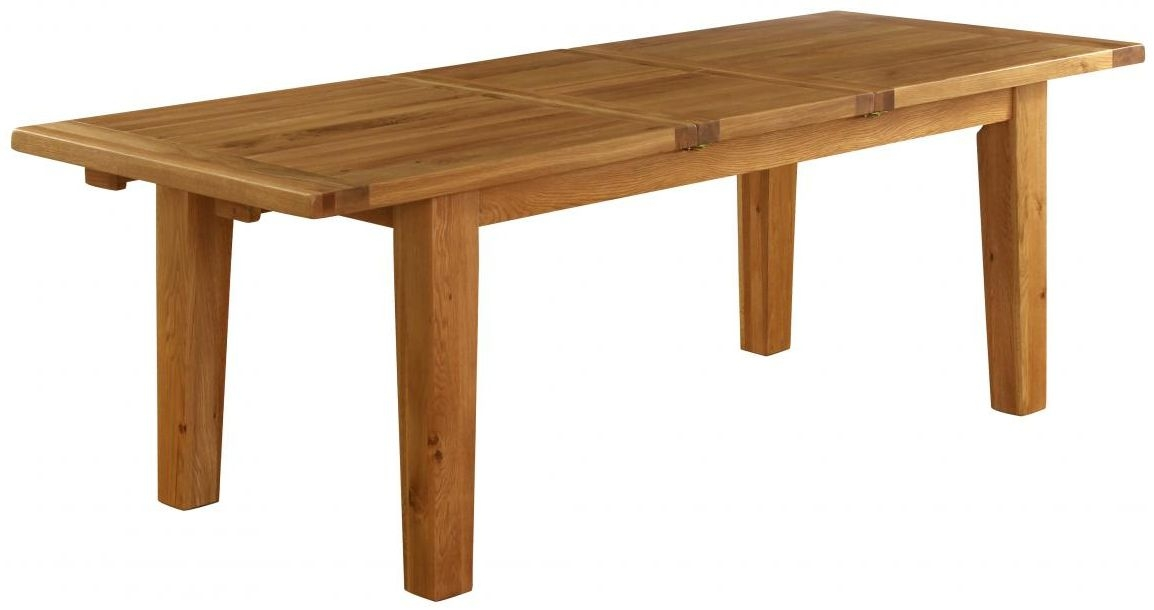 Vancouver Premium Solid Oak Rectangular Extending Dining Table