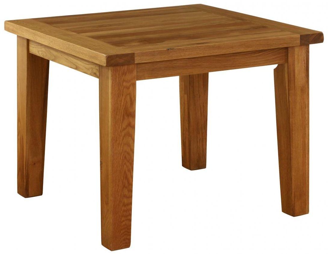 Vancouver Premium Solid Oak Square Fixed Top Dining Table - 100cm