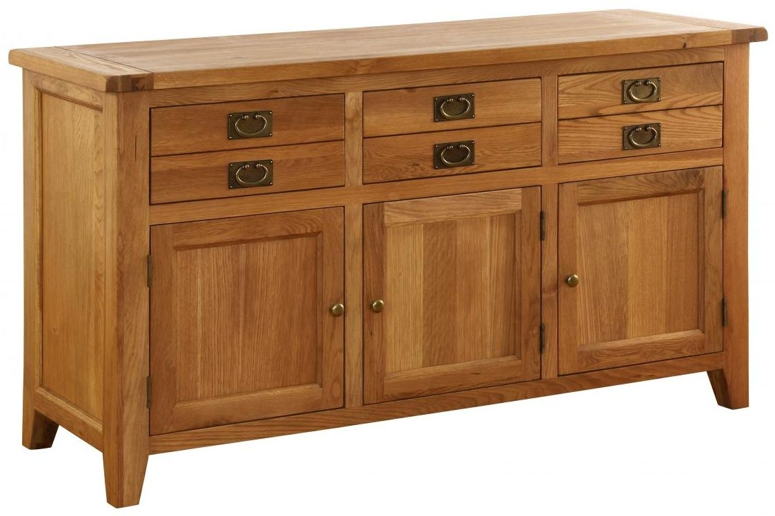 Vancouver Premium Solid Oak 3 Door 3 Drawer Dresser Base
