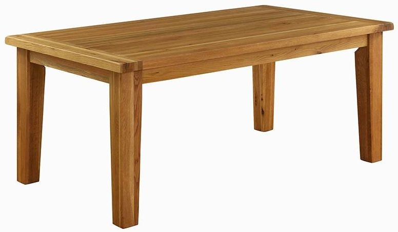 Vancouver Premium Oak Fix Top Dining Table 150cm