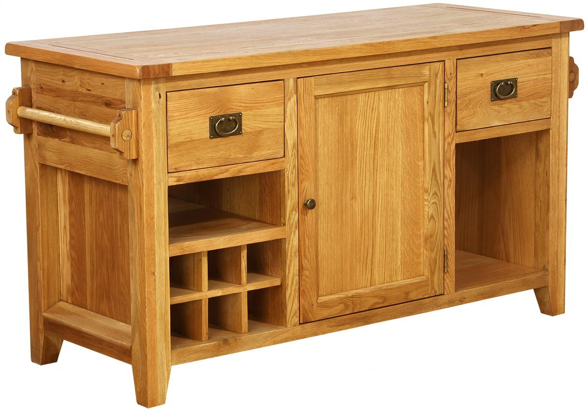 Vancouver Premium Oak Kitchen Island Unit