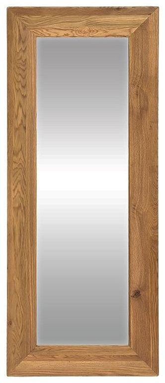 Vancouver Premium Solid Oak Rectangular Long Bevelled Glass Mirror