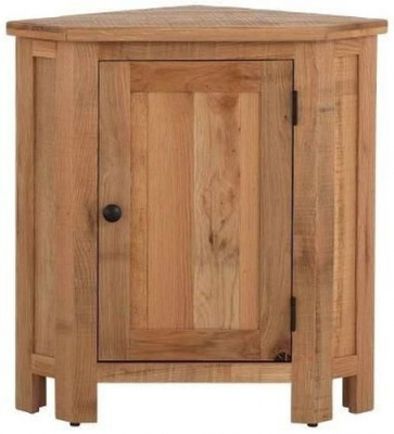 Vancouver Sawn Oak 1 Door Corner Lamp Table
