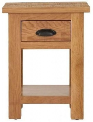 Vancouver Sawn Oak 1 Drawer Bedside Table