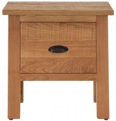 Vancouver Sawn Oak 1 Drawer Lamp Table