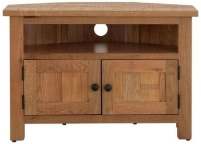 Vancouver Sawn Oak 2 Door Corner TV Unit