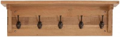 Vancouver Sawn Oak 5 Hooks Coat Rack