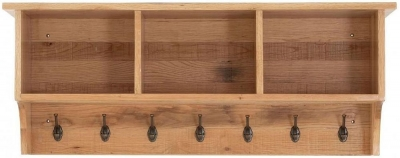 Vancouver Sawn Oak Coat Rack