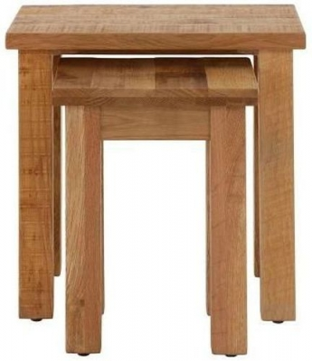 Vancouver Sawn Oak Nest of 2 Table