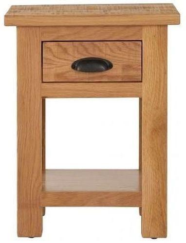 Vancouver Sawn Oak 1 Drawer Bedside Table