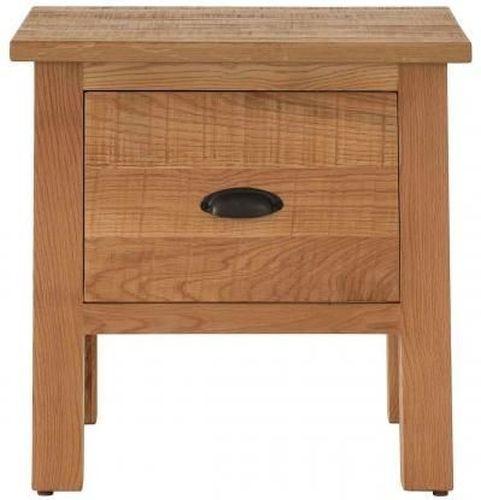 Vancouver Sawn Oak 1 Drawer Lamp Table
