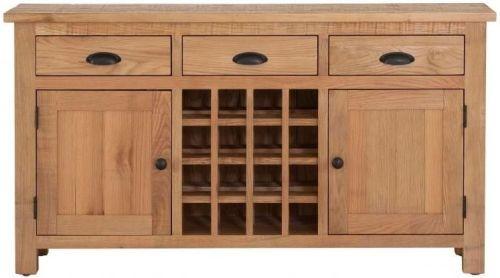 Vancouver Sawn Oak 2 Door 3 Drawer Wine Table
