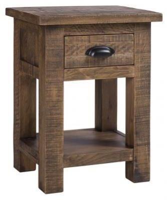 Vancouver Sawn Old Oak 1 Drawer Bedside Table