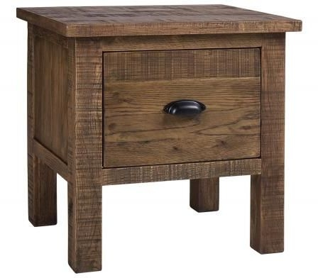 Vancouver Sawn Old Oak 1 Drawer Lamp Table