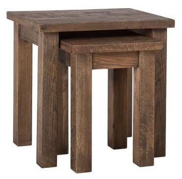 Vancouver Sawn Old Oak Nest of 2 Table