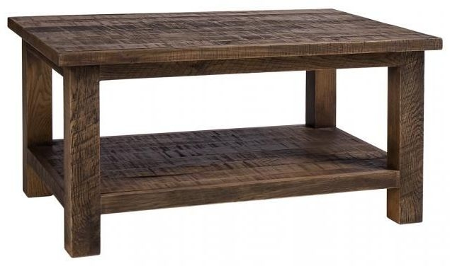 Vancouver Sawn Old Oak Rectangular Coffee Table