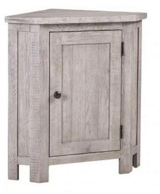 Vancouver Sawn Grey Washed Oak 1 Door Corner Lamp Table