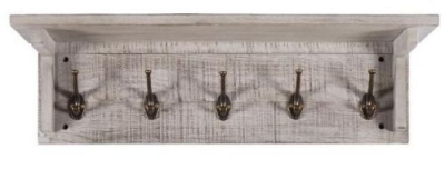 Vancouver Sawn Grey Washed Oak 5 Hooks Coat Rack