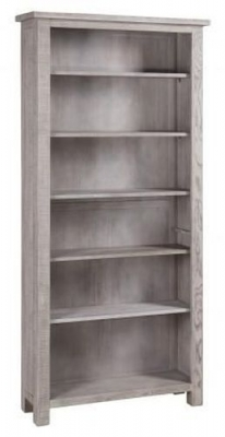 Vancouver Sawn Grey Washed Oak Tall Bookcase