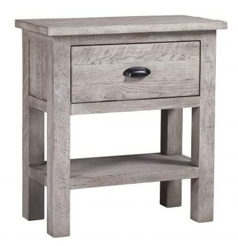 Vancouver Sawn Grey Washed Oak 1 Drawer Console Table