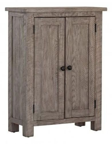 Vancouver Sawn Grey Washed Oak 2 Door Cupboard