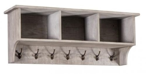 Vancouver Sawn Grey Washed Oak Coat Rack
