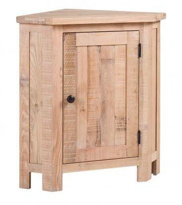 Vancouver Sawn White Washed Oak 1 Door Corner Lamp Table
