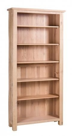 Vancouver Sawn White Washed Oak Tall Bookcase