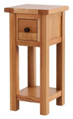 Vancouver Select Oak Tall 1 Drawer Side Table
