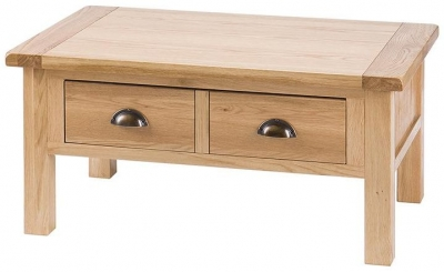 Vancouver Select Oak Coffee Table - 2 Drawer