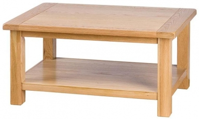 Vancouver Select Oak Coffee Table - Rectangular with Shelf