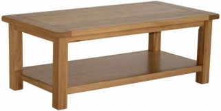 Vancouver Select Oak Coffee Table with Shelf - Large