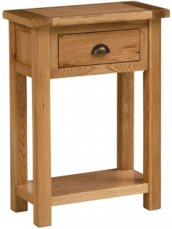 Vancouver Select Oak Console Table with 1 Drawer
