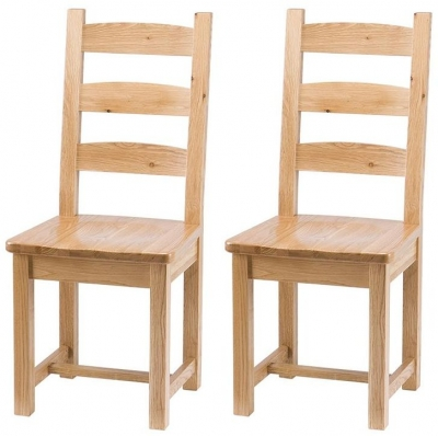 Vancouver Select Oak Dining Chair (Pair)