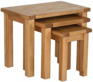 Vancouver Select Oak Nest of Tables