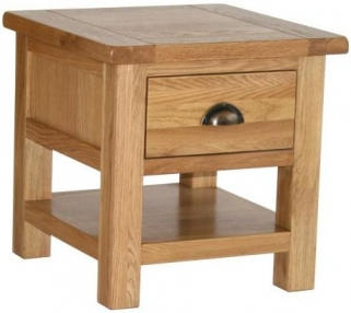 Vancouver Select Oak Occasional Table with 1 Drawer