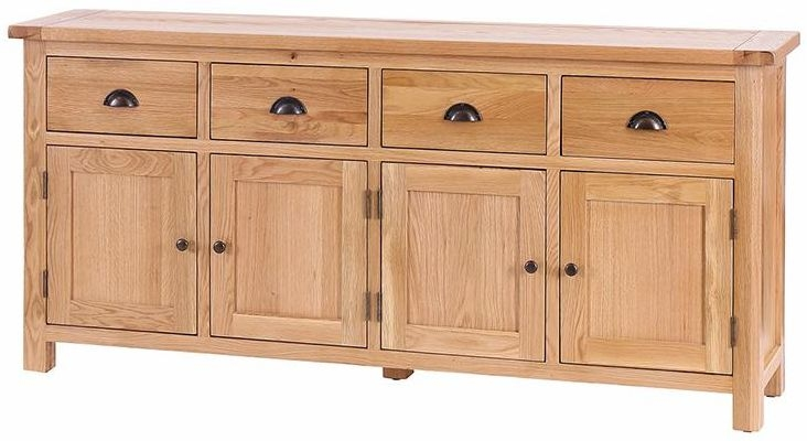 Vancouver Select Oak 4 Door 4 Drawer Large Wide Sideboard
