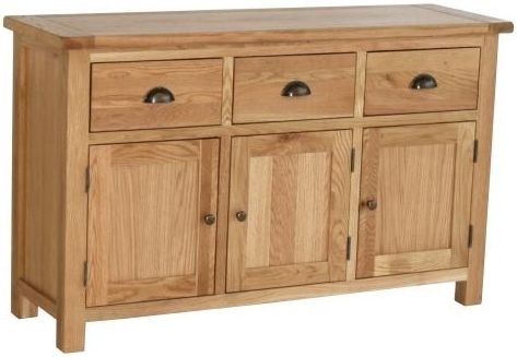 Vancouver Select Oak Buffet with 3 Door 3 Drawer