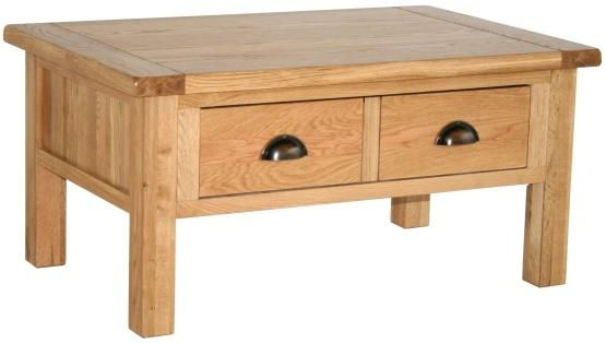 Vancouver Select Oak Coffee Table with 2 Drawer