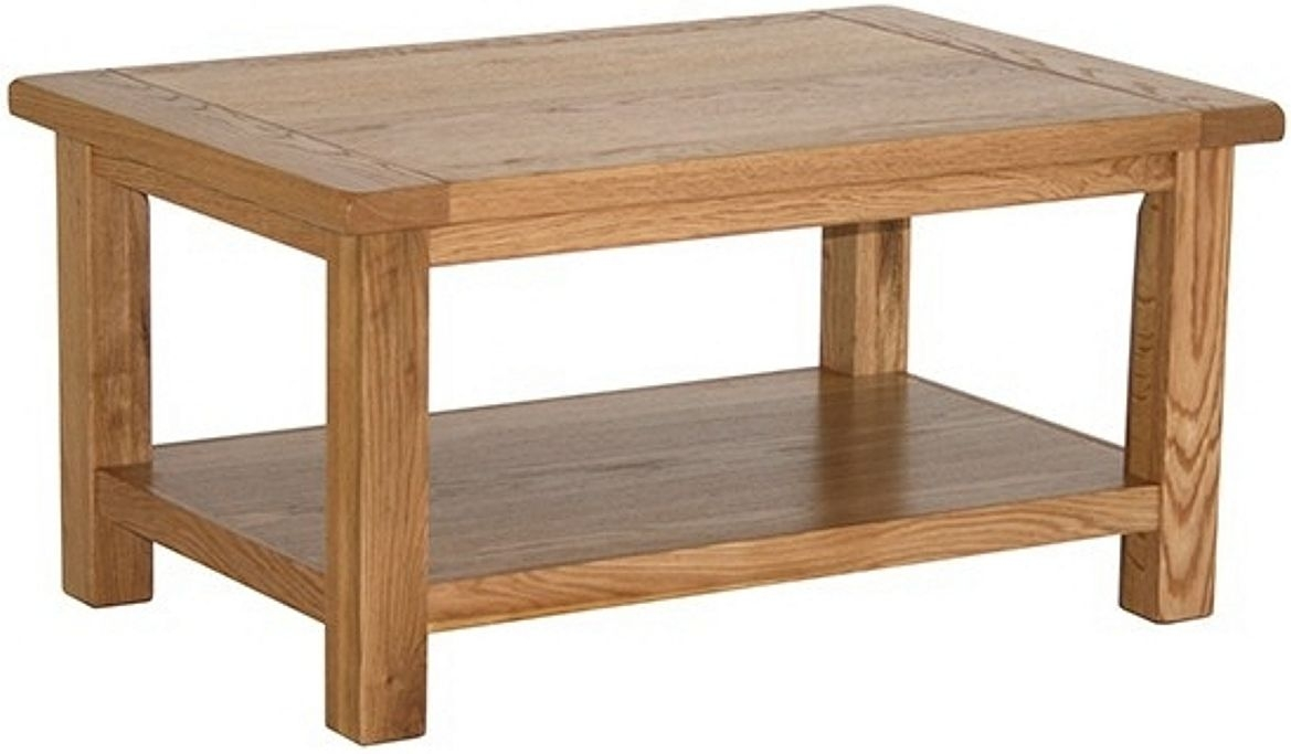 Vancouver Select Oak Coffee Table with Shelf - Medium