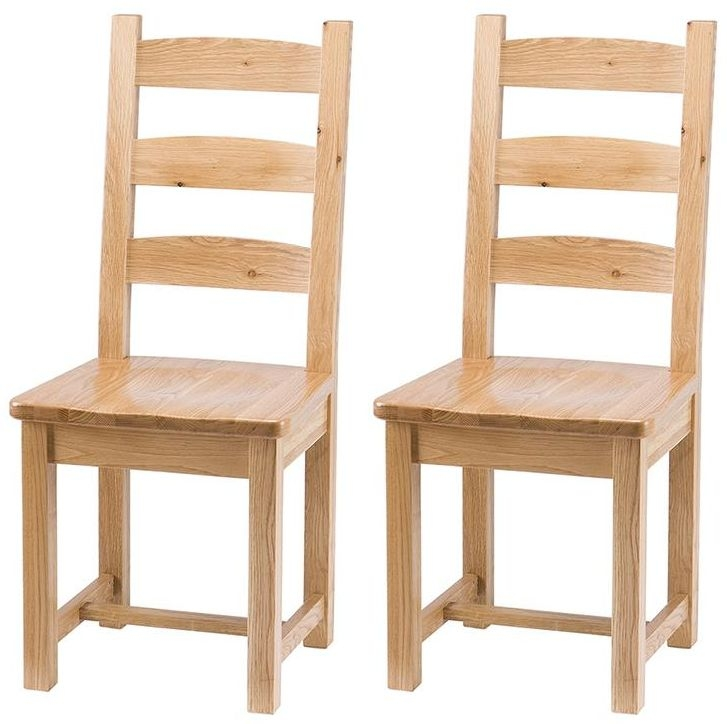 Vancouver Select Oak Horizontal Slats Dining Chair (Pair)