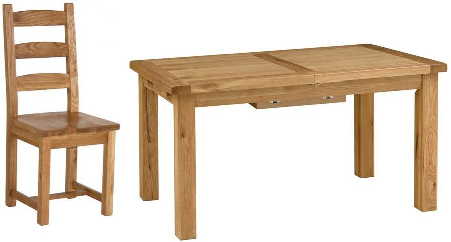 Vancouver Select Oak Dining Set - Extending with 4 Chairs