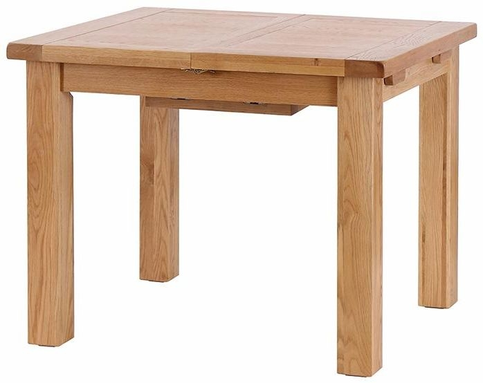 Vancouver Select Oak Rectangular Extending Dining Table - 150cm-140cm