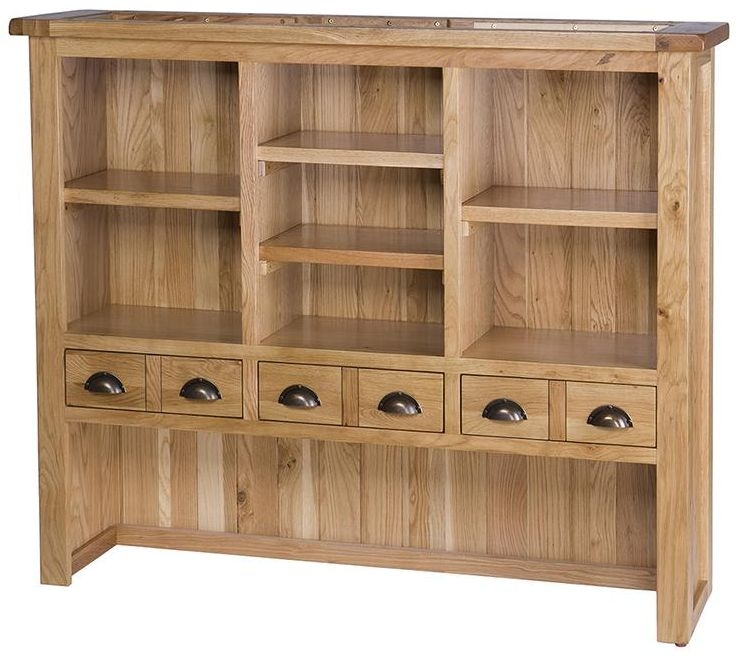 Vancouver Select Oak 6 Drawer Hutch