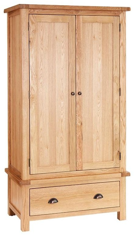 Vancouver Select Oak 2 Door 1 Drawer Double Wardrobe