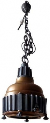 Vintage Industrial Lighting Pendant Light with Lower Detail