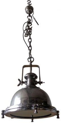 Vintage Industrial Lighting Polished Pendant Cargo Light