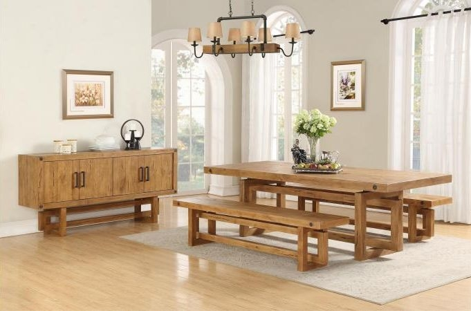 Winston Dining Set with 2 Benches