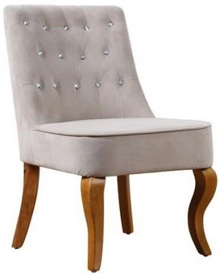 Birlea Darcey Beige Velvet Chair