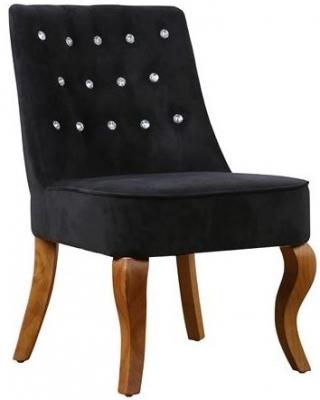 Birlea Darcey Black Velvet Chair